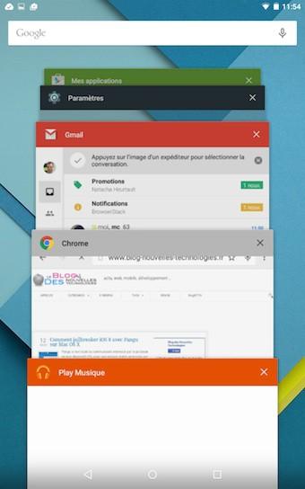 Nexus 9 : applications récemment lancées