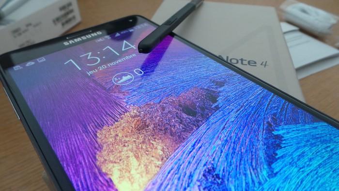 Galaxy Note 4 : magnifique écran