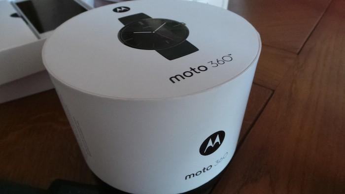 Moto 360 : boîte