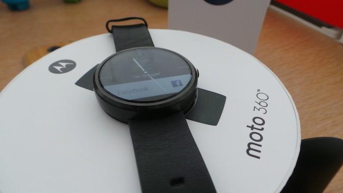 Moto 360 : vue de face