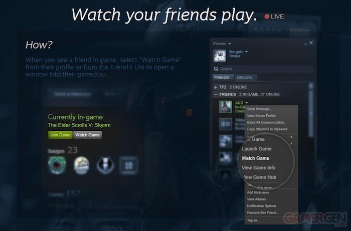 Valve veut concurrencer Twitch en lançant Steam Broadcasting