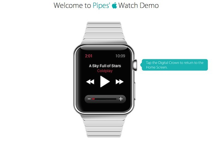 Application musique sur l'Apple Watch