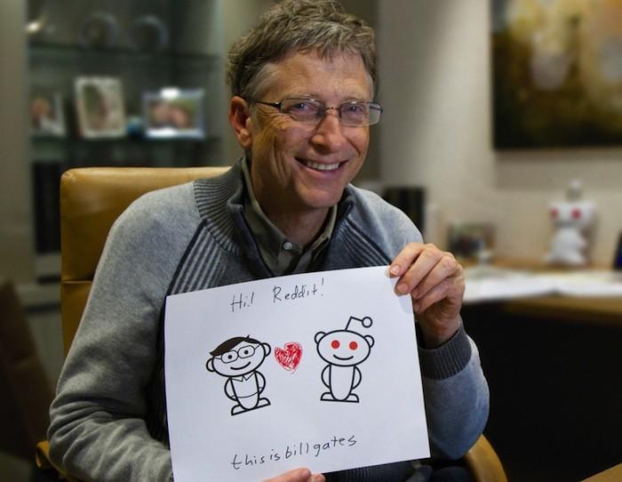 Bill Gates lors d'une session Reddit