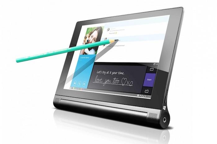 YOGA Tablet 2 : écriture avec un crayon
