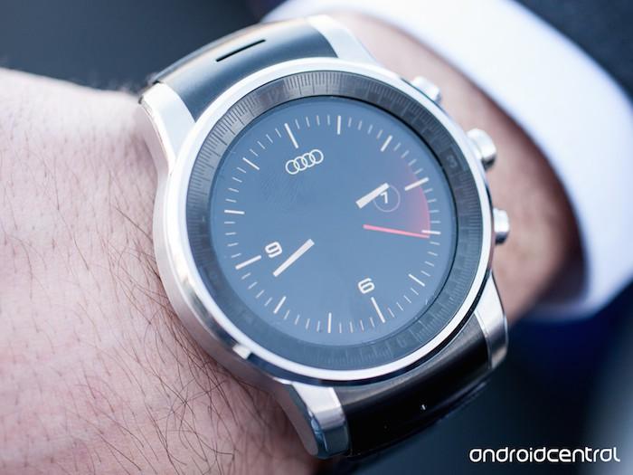 LG G Watch sous webOS : watchface Audi