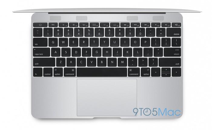 MacBook Air 12 pouces : vue de dessus