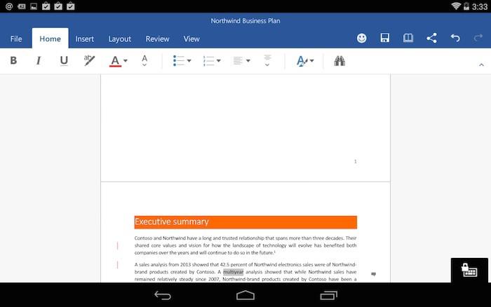 Essayer les applications office sur les tablettes android - Telecharger open office gratuit pour tablette android ...
