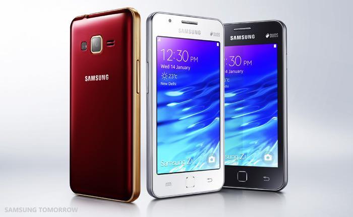 Samsung Z1 - disponible en 3 coloris