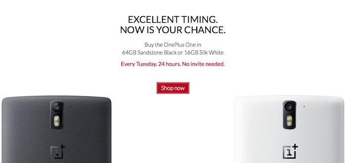 Acheter le OnePlus One tous les mardis sans invitation