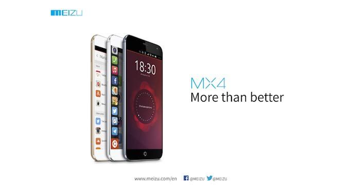 Meizu MX4 Ubuntu Edition : une annonce pour le MWC 2015