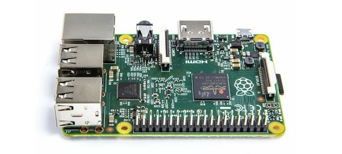 Raspberry Pi 2 : vue de côté
