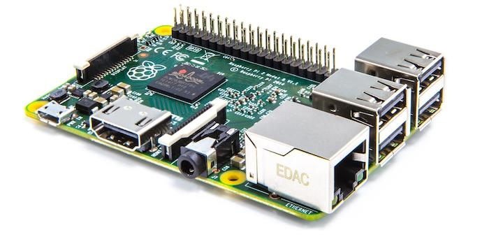 Raspberry Pi 2 : vue de face