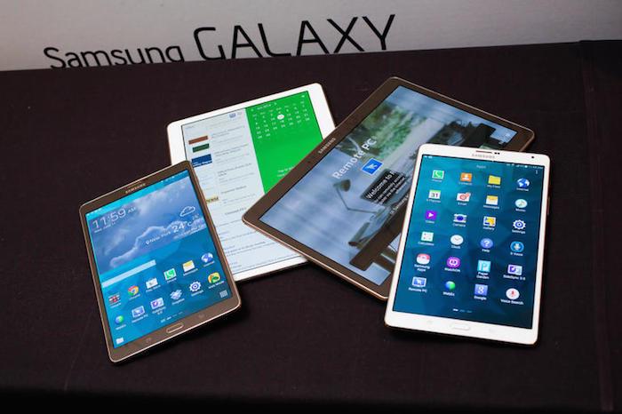 Samsung a déjà une vaste gamme de tablettes