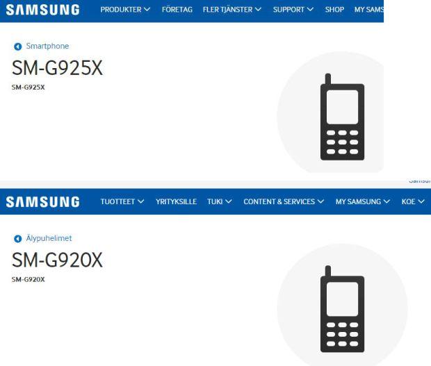 Les pages d'assistance du SM-G920X et SM-G925X, pourraient bien faire référence au Galaxy S6 et au Galaxy S Edge