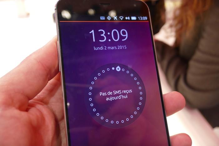 Ubuntu Phone : écran de déverrouillage