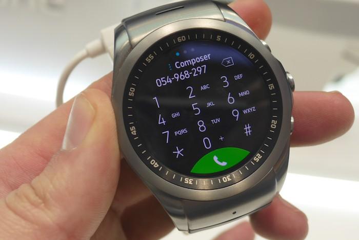 LG Watch Urbane LTE : écran d'appels