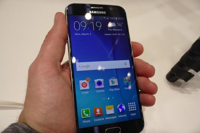 Galaxy S6 : vue de face