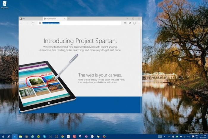 Spartan arrive dans Windows 10 Technical Preview build 10049