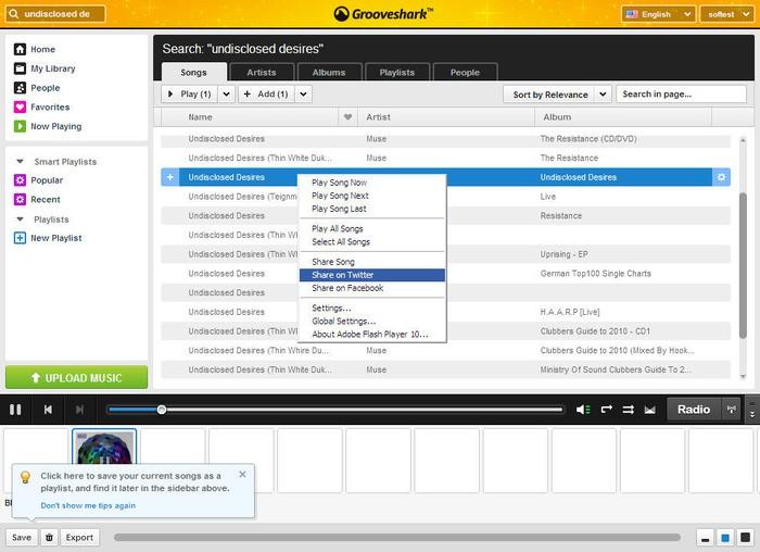 Grooveshark ferme ses portes