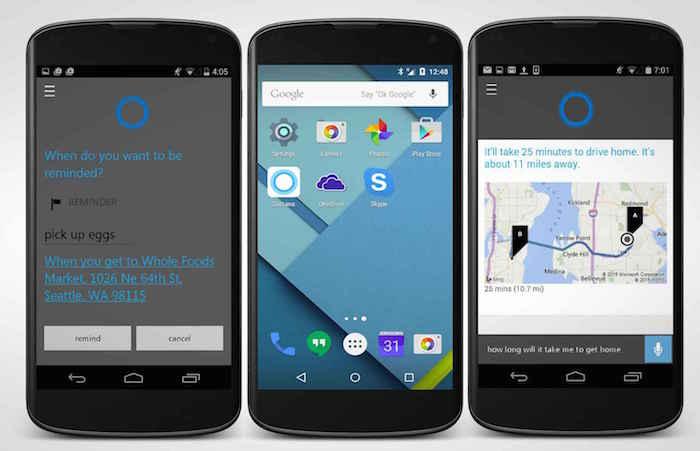 Cortana arrive sur Android et iOS
