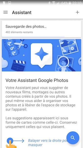 Google Photos : assistant