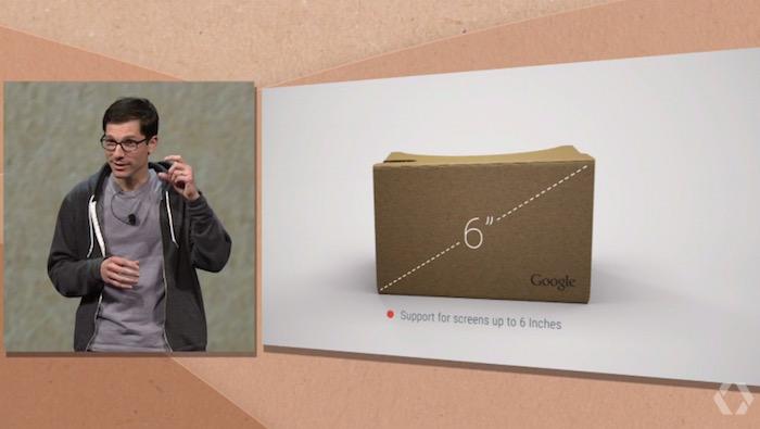 IO 2015 : Google Cardboard est maintenant disponible pour les smartphones de 6 pouce