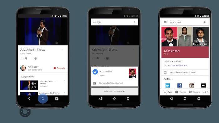 Exemple de Google Now On Tap