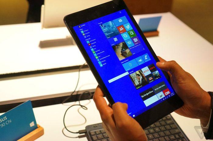microsoft offre un aper u de windows 10 sur les petites tablettes. Black Bedroom Furniture Sets. Home Design Ideas