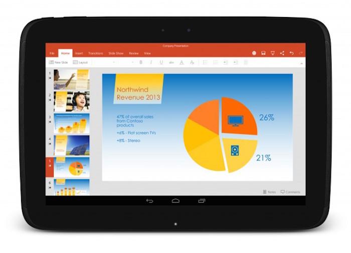 Office et Skype arrivent sur des tablettes Android chez 30 constructeurs