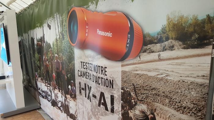 Panasonic HX-A1 : vue de dessus
