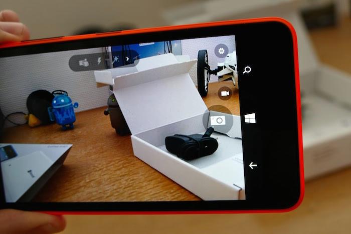 Lumia 640 : caméra arrière