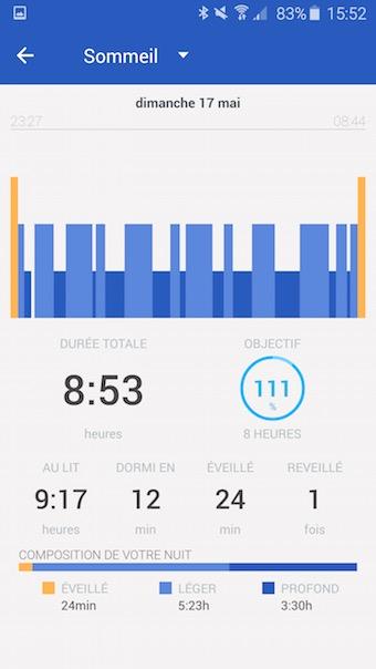 Withings Activité Pop : suivi du sommeil