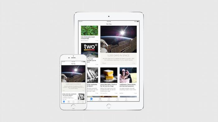 Apple News : cliché 1
