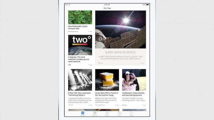 Apple News : cliché 2