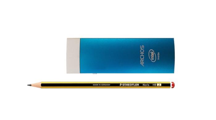 ARCHOS PC Stick comparé à un crayon