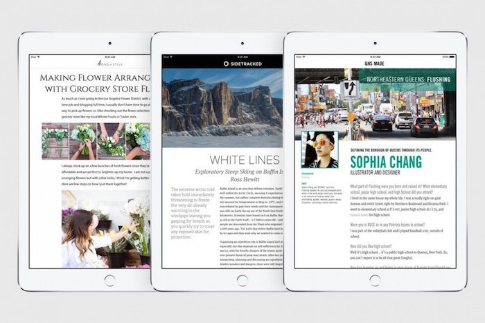 iOS 9 : nouvelle application News