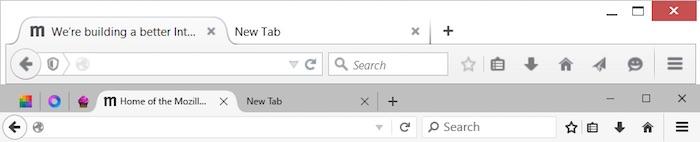 Comparaison de Firefox bureau et Firefox pour Windows 10