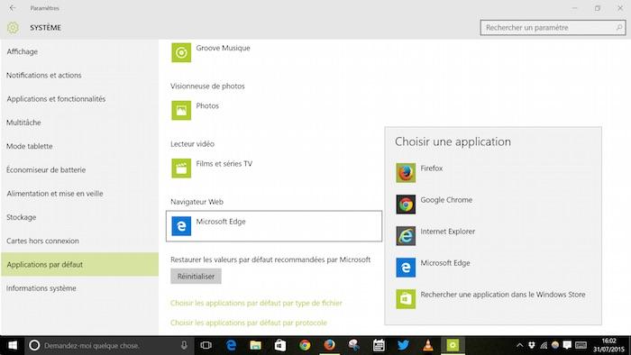 Windows 10 réinitialise votre navigateur par défaut à Edge, Mozilla réplique