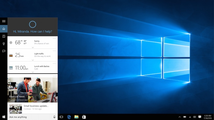 Windows 10 : Cortana