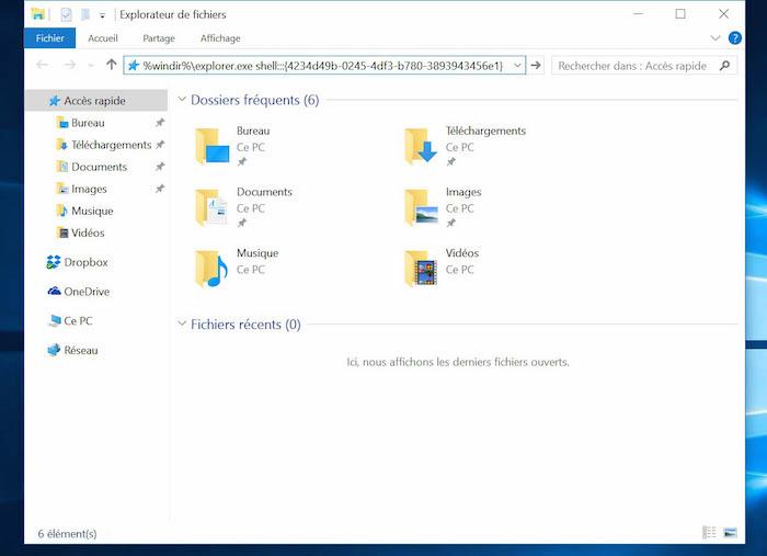 Comment cr er un raccourci d 39 une modern app sous windows 10 for Bureau windows 10