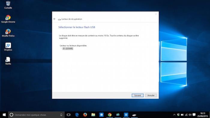 Windows 10 : taille nécessaire de stockage