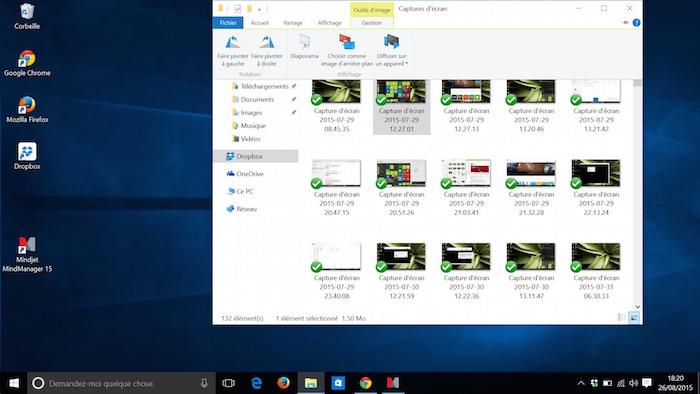 Explorateur de fichiers dans Windows 10 : des outils pour l'image