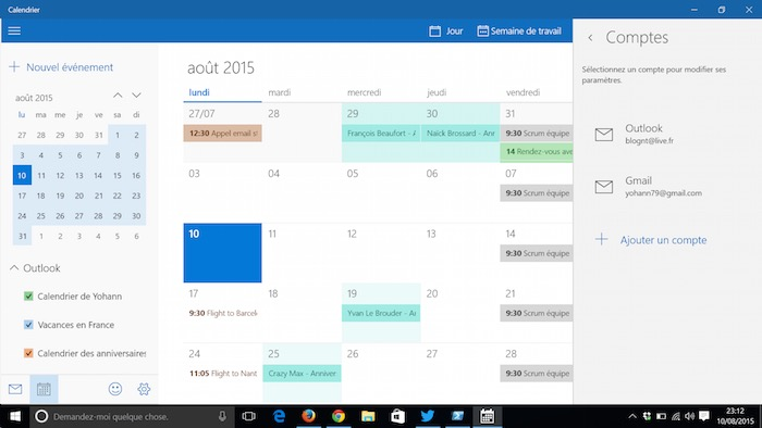 Synchronisation Calendrier Outlook.Comment Synchroniser Vos Agendas Sous Windows 10