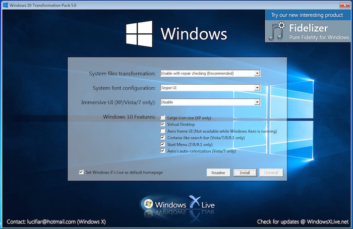 transformer windows 7 en windows 10 Personalization mac os