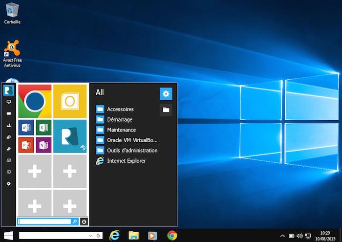 Menu démarrer de Windows 10 Transformation Pack 5.0
