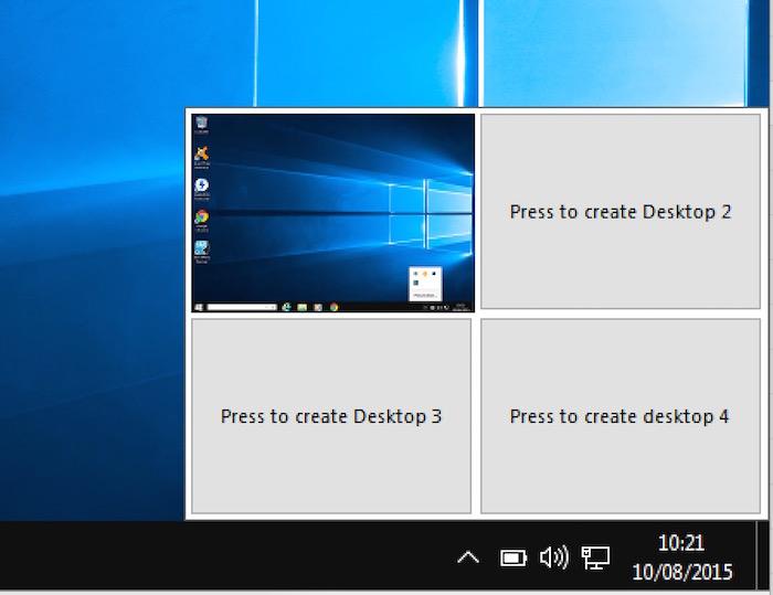 Bureaux virtuels de Windows 10 Transformation Pack 5.0