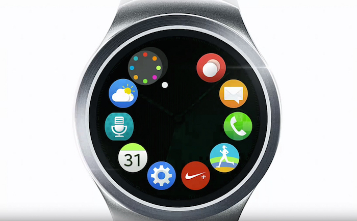 Gear S2 : vue des applications