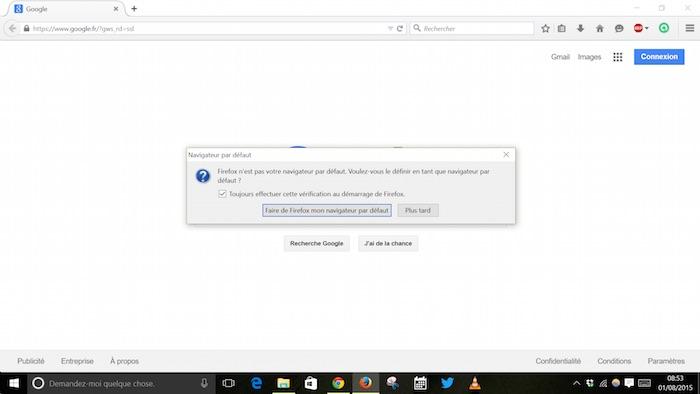 Après l'application de Windows 10, Microsoft écrase les paramètres par défaut des applications