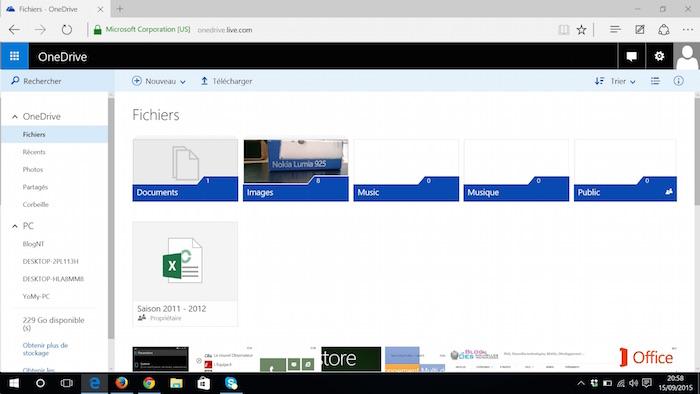 OneDrive sur le Web