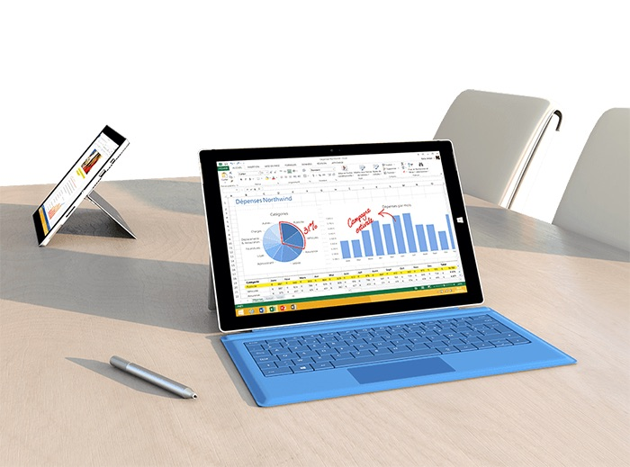 Surface Pro 3 et Type Cover